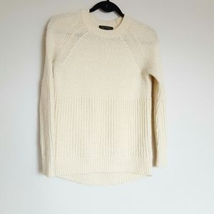 Banana Republic cream multi rib knit sweater